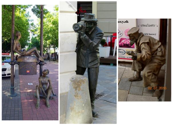 Bratislava statues collage | Julie's World