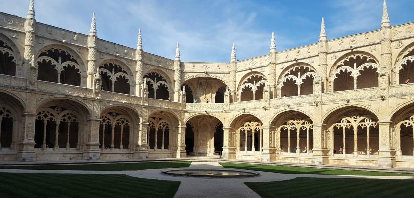 Inside court of Jeronimos Monastery, Lisbon | Julie's World